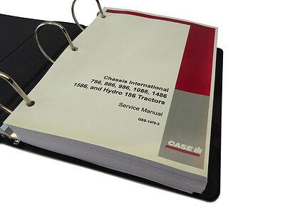 International Ih 786 886 986 1086 1486 1586 Hydro-186 Tractor Service Manual