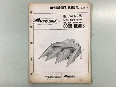 New Idea Farm Equipment - No. 724 725 Corn Heads - Manual No. Us-141