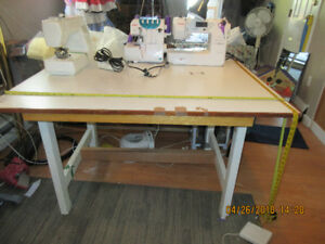 Sewing work space table