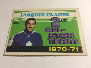 71-72 OPC O-Pee-Chee Jacques Plante 2nd All-Star Team #256 NM