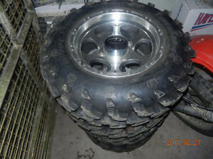 """Set of very nice 27 """" Swamp Lite on 14"""" ITP rims- Can-Am BRP"""