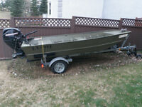 Bow River Equipped Jon Boat w/ 25hp Jet Drive