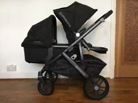 UPPAbaby Vista 2 in 1 Pram and Stroller system with extra rumble seat in Black 2015 model