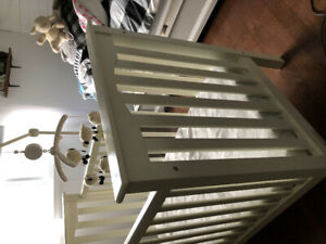 Pottery Barn crib, Mattress, and Mobile