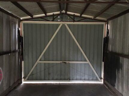 Garage tilt door hinges and frame
