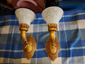 Beautiful Pair of Wall Sconce Lamps