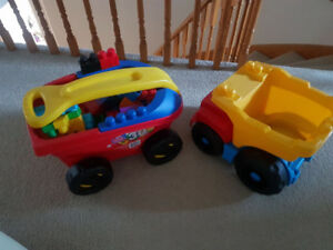 Duplo Wagon and Dump Truck