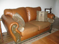 quality leather couch and love seat