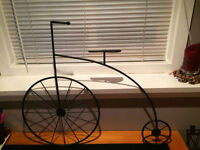 Vintage Wrought Iron Bicycle Wall Decor