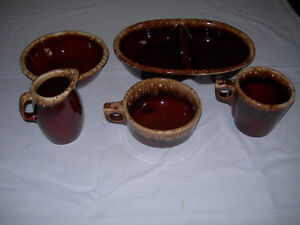 """Hull Pottery  - 5 pieces of """"Brown Drip"""" Ovenware - Vintage! Kawartha Lakes Peterborough Area image 6"""