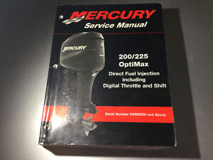 2000-2003 Mercury 200 & 225 OptiMax Outboard DFI DTS Shop Manual