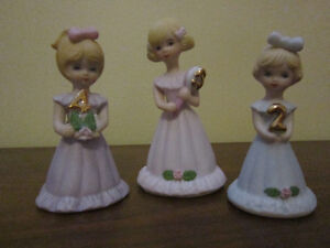 Blonde Growing Up Birthday Girls (from Enesco) Ages 2, 4, and 5