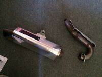 Apache 450 quad stainless steal exhaust system