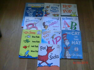 NICE LOT OF 10 DR. SEUSS BOOKS 9 HARDCOVER AND 1 SOFT COVER