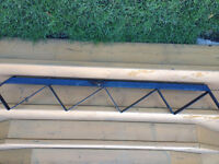 6-  4 step metal stringers for outdoor deck stairs
