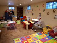 Garderie en milieu familial subventionné