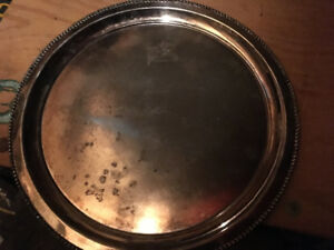 I have a vintage round silver tray