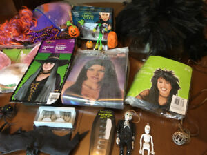 Halloween outfits, costumes and accessories AS ONE LOT