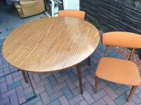 Retro table and four chairs.