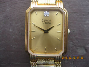 Mens CARAVELLE by BULOVA Gold tone wrist watch