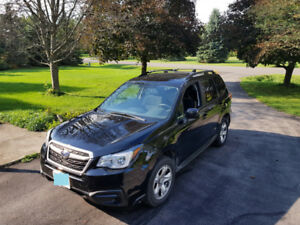 Crystal Black Subaru Forester 2017 2.5i Manual Trans 48,900km