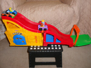 Little People Portable Racetrack With Extras