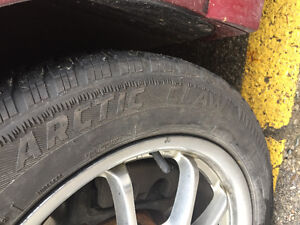 225/55/17r winter tires with alloy rims London Ontario image 4