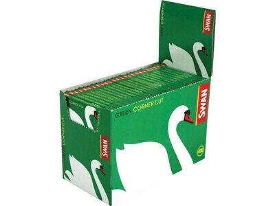 Swan Regular Green Corner Cut Cigarette Rolling Paper one hundred Booklets