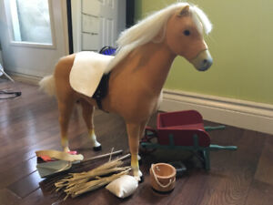 American Girl horse and equipment