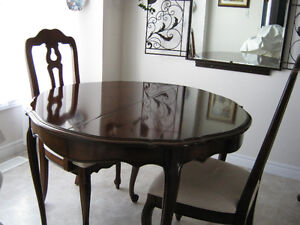 SOLID  CHERRYWOOD TABLE AND CHAIRS