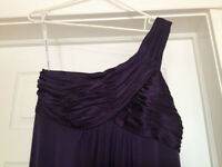 PURPLE ONE STRAP GOWN WORN ONCE SZ 10/12 OBO