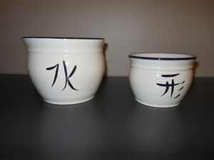 Asian Inspired Pots