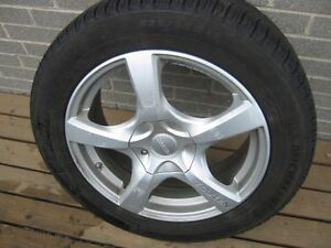 225/55R 17 Michelin winter tires with aluminum rims