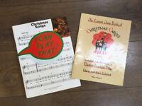 2 beginner Christmas music books for piano