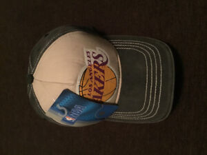 Los Angelas Lakers washed trucker hat new with tags
