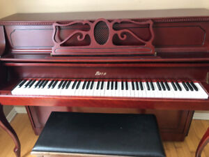Upright Piano and Piano Bench