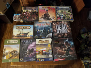 Board Games: mostly new and some lightly used