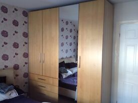 Bedroom wardrobe and side cabinets
