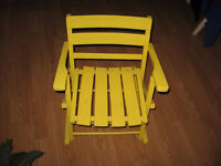 child size yellow Rocking Chair For Sale