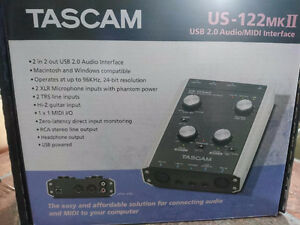 Carte de son Tascam us-122 mk2 - Interface Audio/Midi