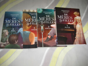 Livres :Série de 4 '' De mères en filles '' de Dominique Drouin