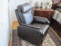 Brand new leather recliner sofa