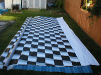 20' Checkered Flag Awning A&E For Race trailer or RV Like New