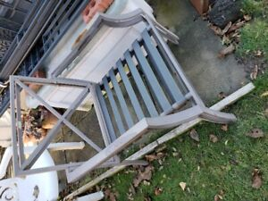 steel framed patio chairs- 2 total