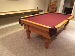 Italian Slate Pool table & Accessories-Includes moving/assembly