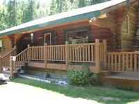 Beautiful log home in Burton BC