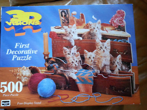 Factory Sealed 500 piece 3D kitten puzzle