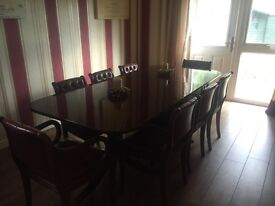 ** PRICE REDUCED** Seat Mahogany Dining Table