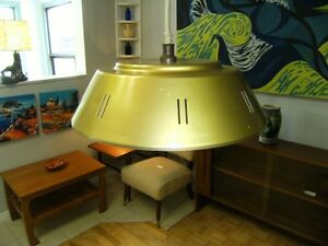RETRO MCM STEEL FLYING SAUCER  PULLDOWN LIGHT Peterborough Peterborough Area image 6