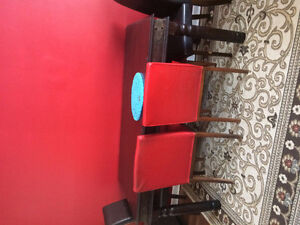 Hardwood table with 4 chairs